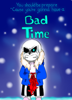 Sans :  Bad time.... by carolinacc12