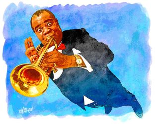 Louis Armstrong by wooden-horse