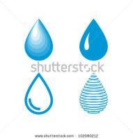 vector water drops icon set by vectorbackgrounds