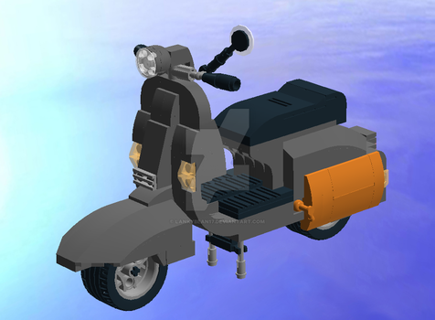 Vespa Scooter Lego request by Lankybean17