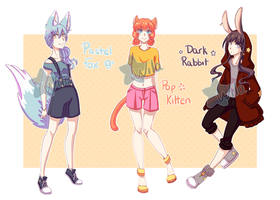 [Reduced Set Price] Kemonomimi Adopts (1/3 OPEN) by Wila-Chan