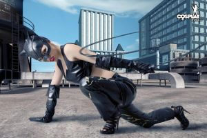 Cassie as catwoman by cosplayerotica