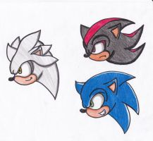 faces of hedgehogs by RoseBereArtist