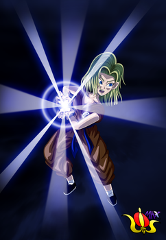 Android 18 Kamehameha by Madmaxepic