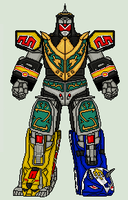 Mighty Morphin Power Rangers - Dragonzord BM by vandersonmetal