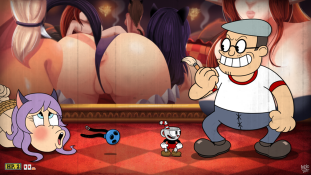 Cuphead vs Ariki the Mediocre Lewd Artist by AndroJuniarto