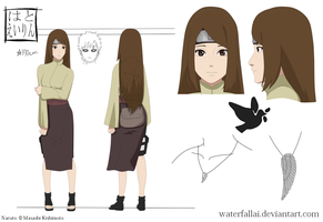Naruto OC Hato Eirin Reference Sheet by WaterfallAi