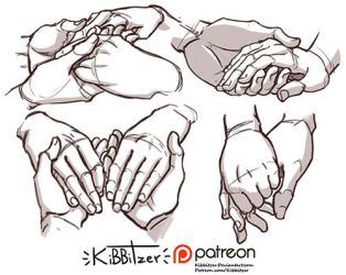 Hands reference sheet 12 by Kibbitzer