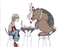 Am and the bear by Citified