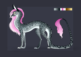 Snow Leopard/Dragon Hybrid Auction [OPEN] by TheAdoptArtist