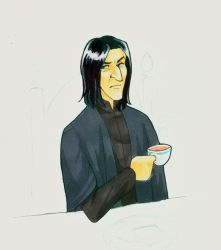 Breakfast Time Snape by laerry