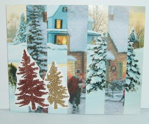 Striped Holiday Card by divadea