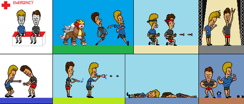 Beavis and Butthead Comic Panels (Ft. Entei) by Enderpony626
