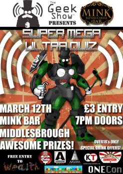 Poster for our 4th Quiz night by TheGeekShowUK