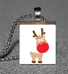 Big Cute Red Nose Reindeer Bod by HipsterDesigns