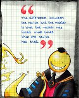Notebook drawing #1 - Koro-sensei by AjkaSketch