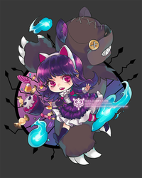 Commission : Annie and Tibbers by ippus