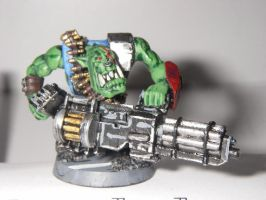 Heavy Weapons Ork by Blarghmeister