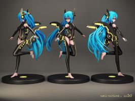 Miku Hatsune by KID3D