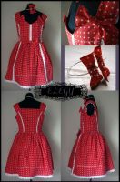 Red Polka Dot Lolita JSK by MissChubi