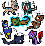 Adoptable kittys! by MrHypn0sis