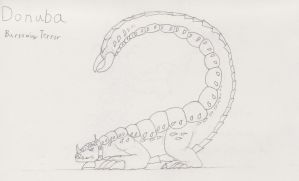 Donuba, the Burrowing Terror - Sketch Concept - by TheHiddenElephant