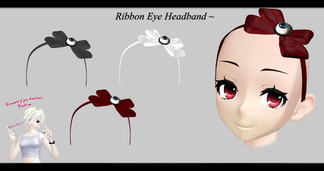 [MMD] Ribbon Eye Headband DL ~ by o-DSV-o