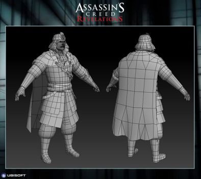 Assassin's Creed Revelations : The Count Wireframe by Dipnusurf