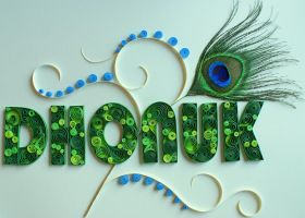 Quilling Dhonuk Logo by PreetK