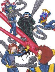 X-Men Vrs. Giant Ock by BlazeRocket