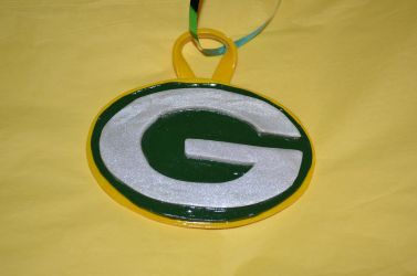 Polymer Clay Green Bay Packers Ornament - (1A) by LostGryphin