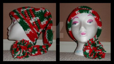 Christmas Stocking Hat by taniathepirate