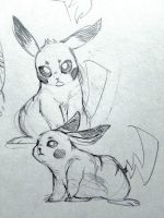 Pikachus by Feather-Red