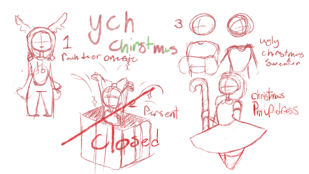 YCH Christmas theme (request) by fancyFeline33