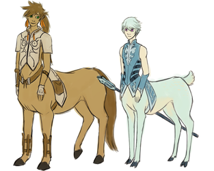 Sormik centaurs by Night-of-Void