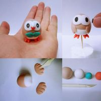 Pokemon Sun Pokemon Moom Clay Rowlet