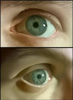 Realistic Eye Painting by RagingBunny