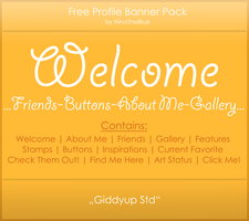 Free Banner Pack :: Giddyup Std (black|white) by HinaTheBlue