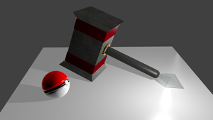 Mallet and Pokeball by Izzi1313
