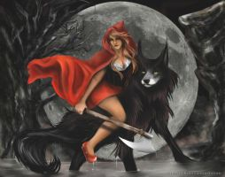 RED Riding The Wolf by MonAshk