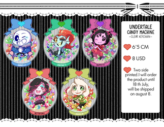 Candy machine undertale (clear keychain) by RikkuHanari