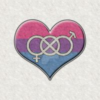 Bisexual Pride Heart with Gender Knot by lovemystarfire