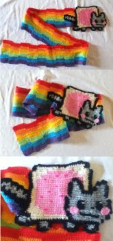 Nyan Cat Scarf by BlackPie