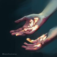 Day 21 - Hands? by katyillustrates