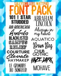 +FONT PACK by irwinbae