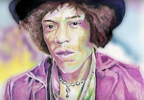 Jimi Hendrix by B-Richards