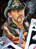 Lemmy Kilmister Motorhead portrait painting poster by SpirosSoutsos