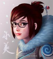 Mei Autograph Fan Card - Overwatch by luffie