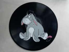 Eeyore on vinyl record by vantidus
