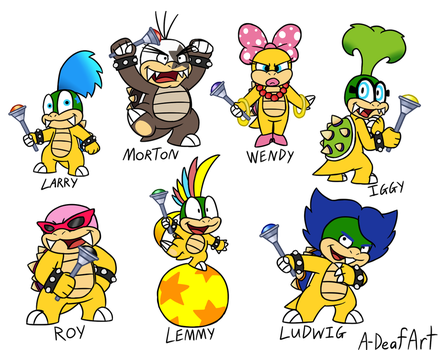 Koopalings by HandyxRussell10